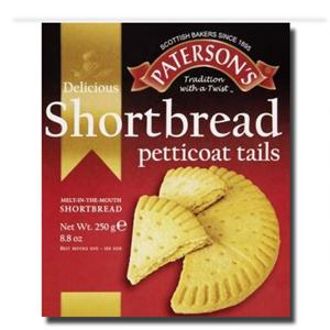 Patersons Shortbread Petticoat Tails 250g