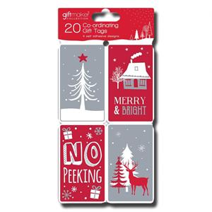 Giftmaker Christmas 20 Co-Ordinating Gift Tags