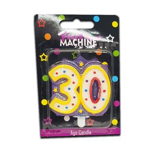 Fun Machine Age Candle 30,40,50,60 Years