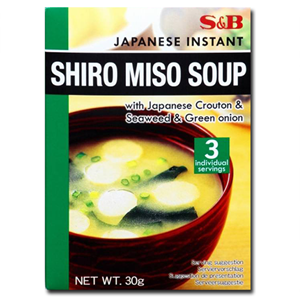 S&B Shiro Miso Soup With Japanese Crouton & Seaweed & Green Onion 30g