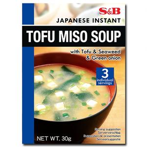 S&B Tofu Miso With Tofu & Seaweed & Green Onion Soup 30g