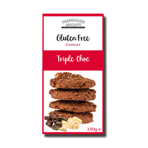 FarmHouse Biscuit Gluten Free Triple Chocolate 150g