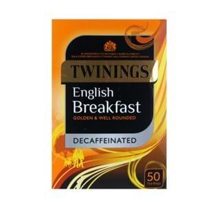Twinings English Breakfast Decaffeinated 50's
