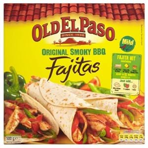 Old El Paso Fajita Kit Smoky BBQ 500g
