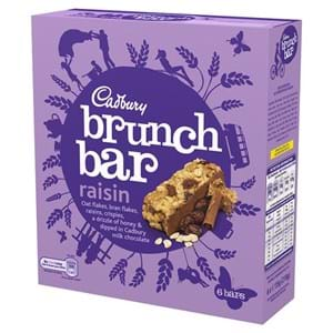 Cadbury Brunch Bar Raisin 6x29g