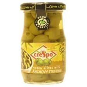 Crespo Pitted  Green Olives 198g
