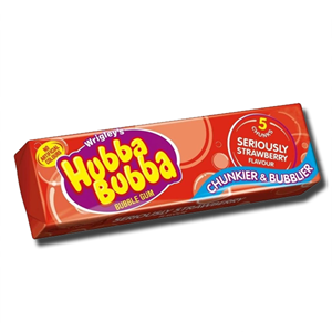 Wrigley's Hubba Bubba Strawberry Gum