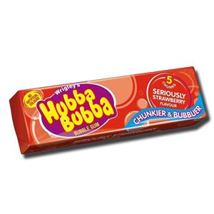 Wrigley's Hubba Bubba Strawberry Gum