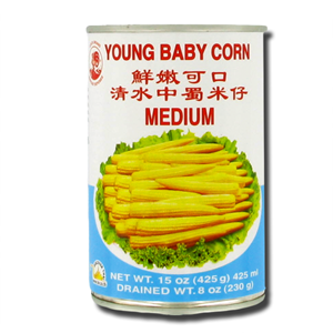 Cock Brand Young Baby Corn 425g