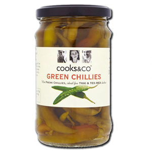 Cooks & Co Green Chillies 300g
