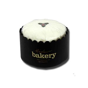 "Hider Bakery Iced Topped Christmas Fruit Cake 6"" Round"