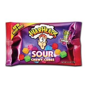 Warheads Sour Chew Cubes 70g