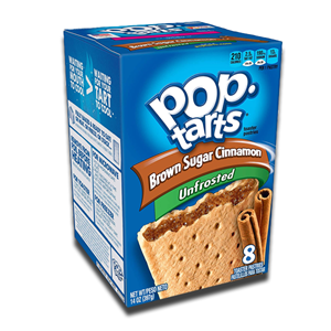 Kellogg's Pop Tarts Brown Sugar & Cinnamon Unfrosted 384g