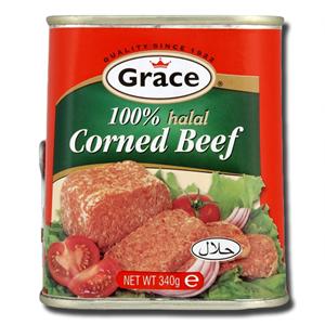Grace Corned Beef 100% Halal 340g