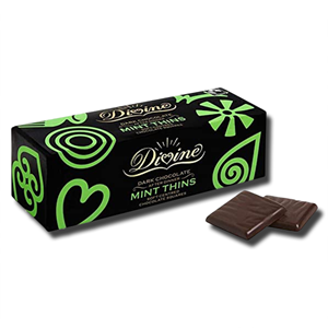 Divine Dark Chocolate Mint Thins 200g