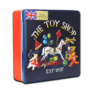 Grandma Wild's Embossed Square Toy Shop Tin 400g