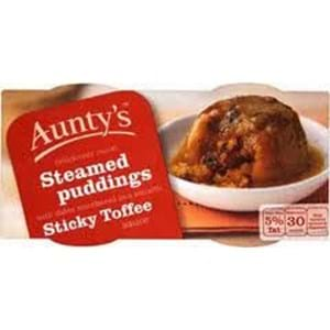 Aunty's Sticky Toffee Steamed Puddings 2x100g