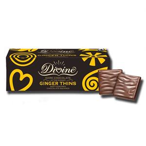 Divine Ginger Thins Dark Chocolate 200g