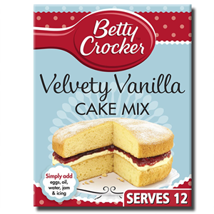 Betty Crocker Velvety Vanilla Cake Mix 425g