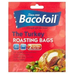 BacoFoil Turkey Roasting Bags Extra Large Size 45cmx55cm