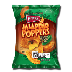 Herr's Jalapeno Poppers Cheese Curls 28,4g