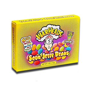 Warheads Sour Jelly Beans Box 113g