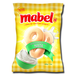 Mabel Rosquinha sabor Nata 400g