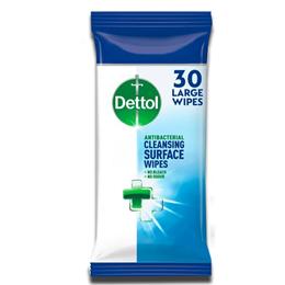 Dettol Anti Bacterial large Wipes Kills 99.9% 30´S