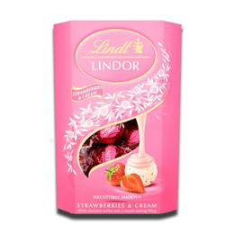Lindt Lindor Strawberries & Cream Chocolate Balls 200g
