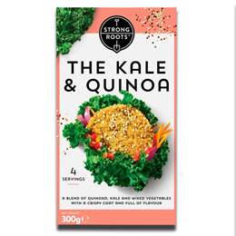 Strong Roots The Kale & Quinoa Patty Frozen 300g