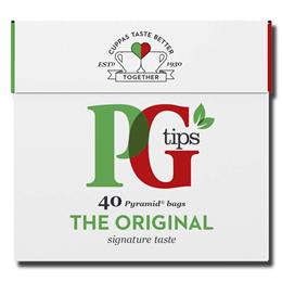 PG Tips English Black Tea Bags 40's