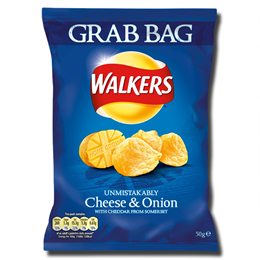 Walkers Crisps Cheese & Onion 50g